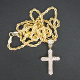 Gold & Diamond Baby Cross Charm #3