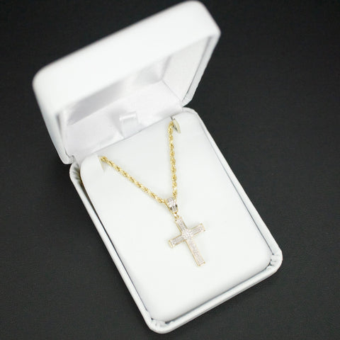 Gold & Diamond Baby Cross Charm #7