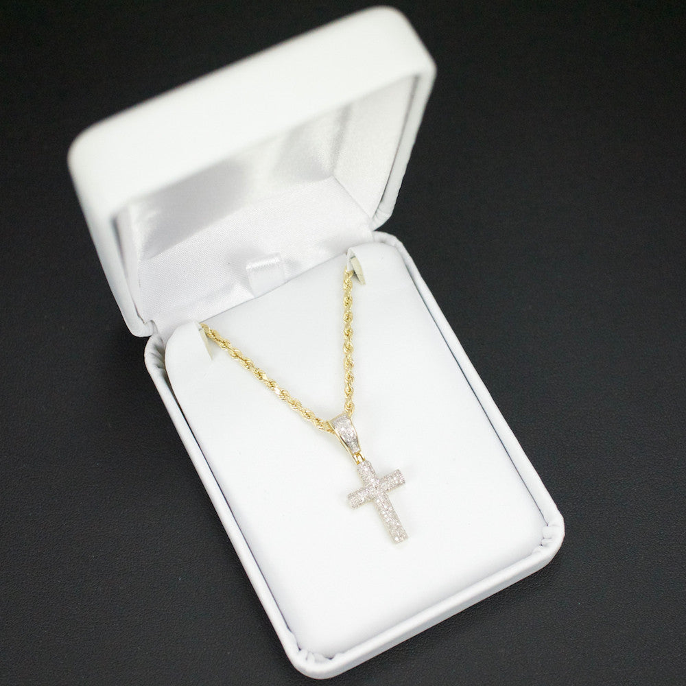 Gold & Diamond Baby Cross Charm #11