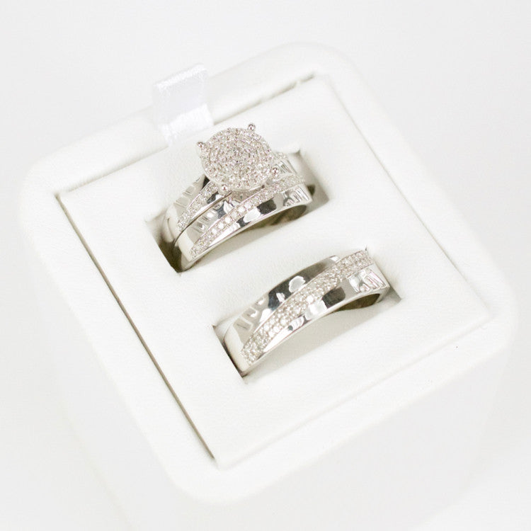 Gold & Diamond Trio Wedding Set #3