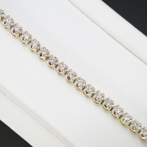 Gold & Diamond Ladies 1.0ct Tennis Bracelet