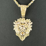 Gold & Diamond Small Lion Charm #1