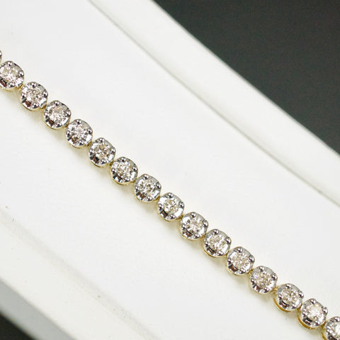 Gold & Diamond Ladies 2.0ct Tennis Bracelet