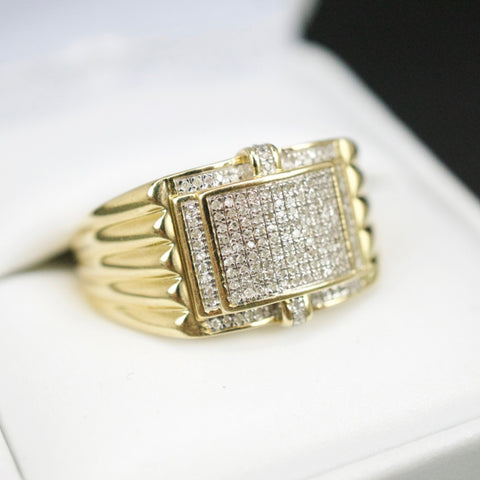 Gold & Diamond Mens Ring #37