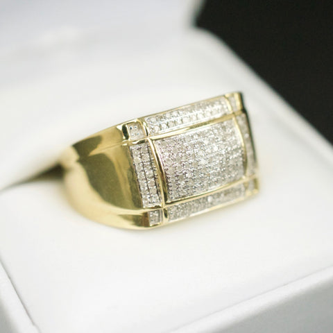 Gold & Diamond Mens Ring #38