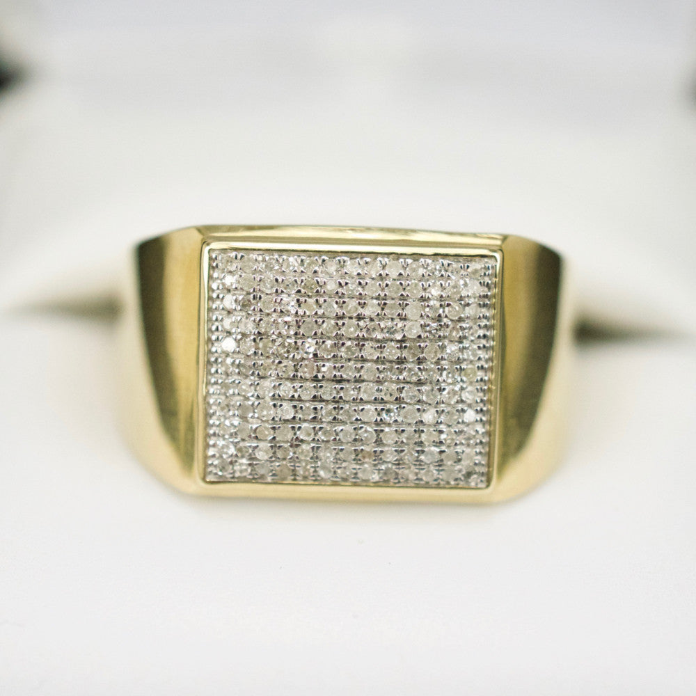 Gold & Diamond Mens Ring #39