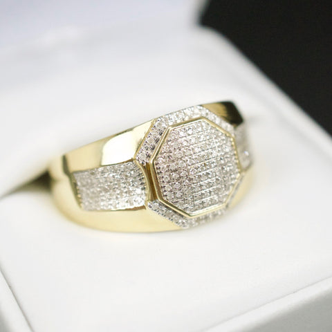 Gold & Diamond Mens Ring #40