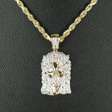 Gold & Diamond Small Jesus Charm #2