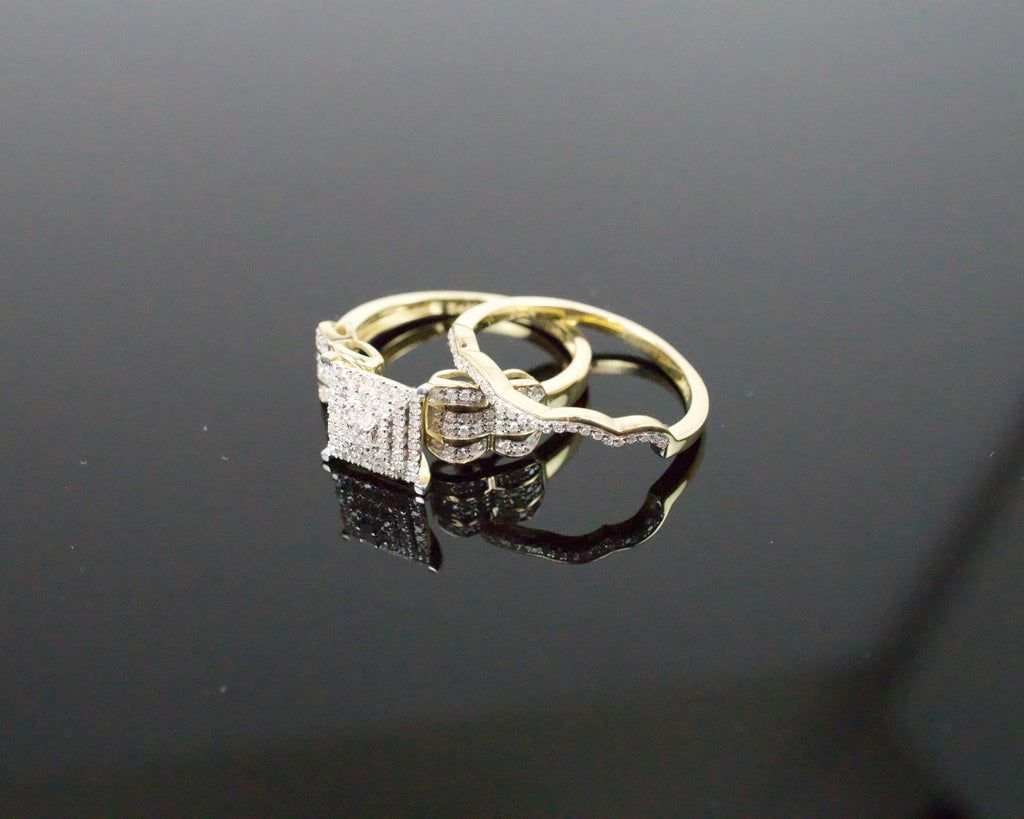 Gold & Diamond Ladies Engagement Set #23