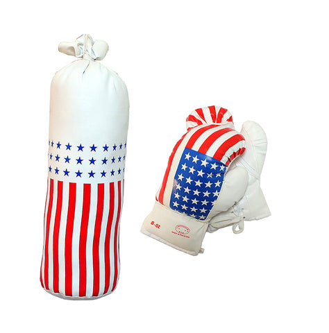 8oz USA Mini Punching Bag Set