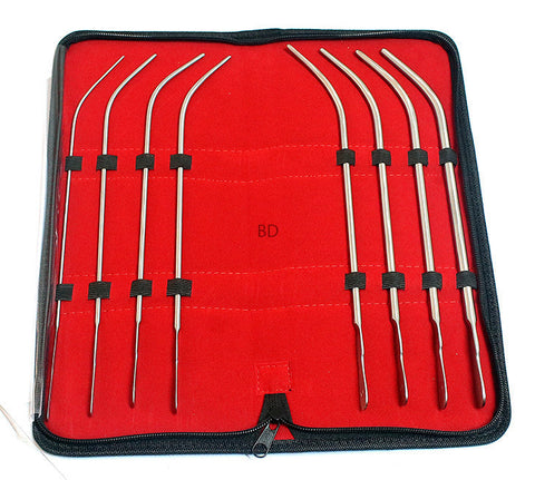 Van Buren Sound Urethral Set of 8 Surgical Instruments