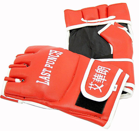 Leather Wristwrap Heavy Bag Gloves Boxing Training Gloves