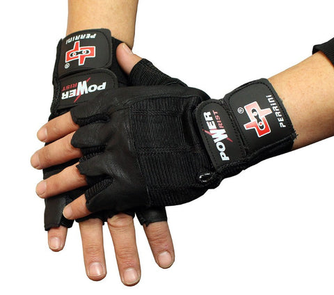 Fingerless Gloves Black Leather Working Out/Weight Lifting