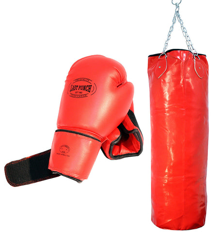 Pro Punching Bag with Chains & Pro Boxing Gloves Punching Bag Boxing Gears New