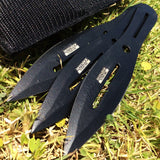 "7.5"" Set of 3 Throwing Knives with Sheath"