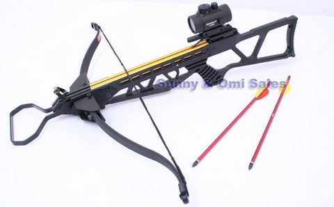 MK-180 Hunting Crossbow +Red Dot Scope+Arrows cross bow
