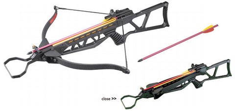 MK-180 Metal Hunting Crossbow +Scope + Pack of Arrows
