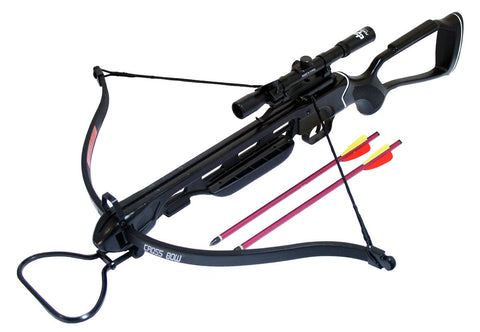 150 Lbs Metal Hunting Crossbow + Scope + Pack of Arrows