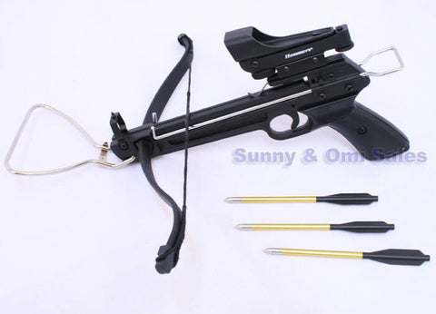 80 lbs Pistol Crossbow + Red Dot + 15 Arrows Cross Bow