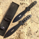New Set of 2 Throwing Knives with Sheath