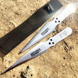 Set of 2 Throwing Knives with Sheath Sharp