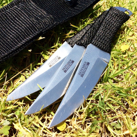 Set of 3 Throwing Knife with Sheath