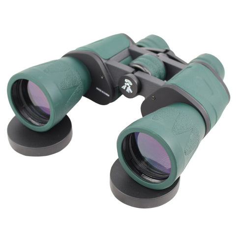 10X60 Green Perrini Binoculars High Resolution, Ultra Compact With Carrying Case