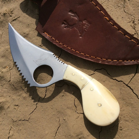 "7"" Skinner Knife Bone Handle Series Hunting Knife Sharp"