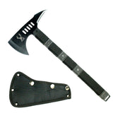 "14.5"" TheBoneEdge Tactical Survival Axe with Sheath Black Hatchet"