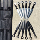 12pc Black & Silver Throwing Knives Set