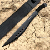 "Defender 20.5"" Black Machete Full Tang with Black Sheath"