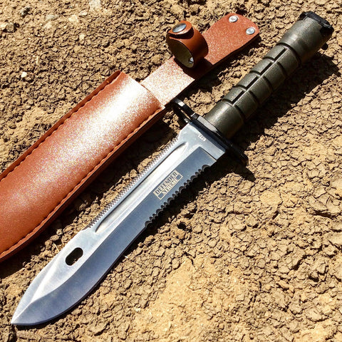"12.75"" Defender Xtreme Stainless Steel M9 Bayonet Knife with Sheath Serrated Blade"