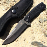 "TheBoneEdge 9"" Hunting Knife Sharp Blade Stone Wash Blade G10 Handle with Sheath"