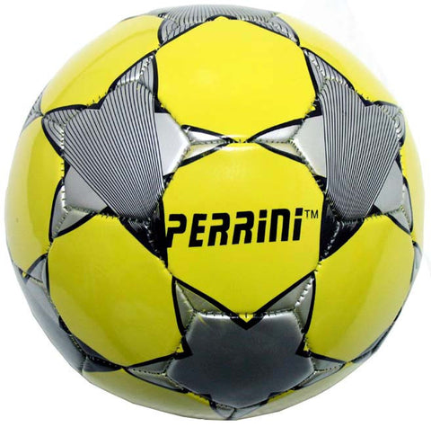 Indoor Outdoor Yellow & Grey Color Soccer Ball Size 5