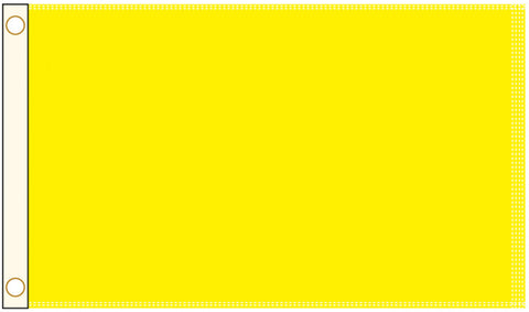 Perrini Poly Nylon 3x5 Yellow Flag