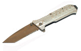 "8.5"" Silver Spring Assisted Metal Knife with Clip"