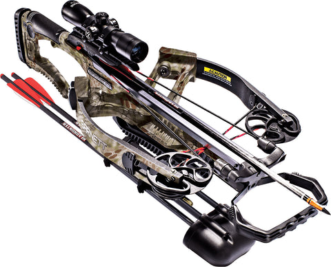 Barnett Vicious 150lbs Powerful Crossbow Side Mount Quiver 4x32 Illuminated Scope