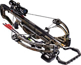 Barnett Raptor FX3 Pro 160 lbs Realtree Xtra Crossbow Side Mount Quiver With 4x32 Scope
