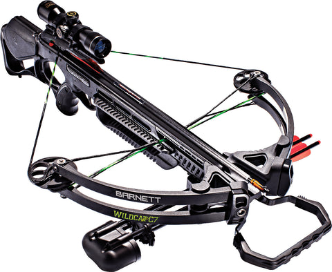 Barnett Wildcat C7 125 lbs Black Crossbow Package with 4x32 Scope