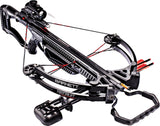 Barnett Recruit Tactical Compound 130 lbs Black Crossbow Package w/ Red Dot Sight