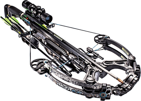 Barnett Razr Ice Mossy Oak Treestand 185 lbs Crossbow w/1.5x5x32 Illuminated Scope