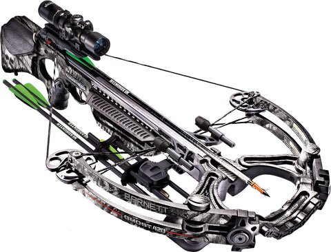 Barnett Ghost 420 - 185 lbs Mossy Oak Treestand Crossbow w/ 1.5x5x32 Illuminate Scope