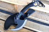 "Hunting Tactical 11.5"" Zomb-War Tactical Axe Stainless Steel Black"