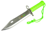 "13"" Zomb-War Bayonet Survival Knife Stainless Steel with Sheath"