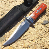 "7.5"" Defender Xtreme Hunting Knife Full Tang Blade with Wood Handle Mixed Colors"