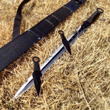 "28"" Defender-Xtreme Ninja Sword and Throwing Knife Set with Scabbard"