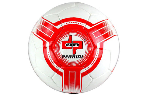 Perrini Futsal Official Size 4 Soccer Ball White and Red