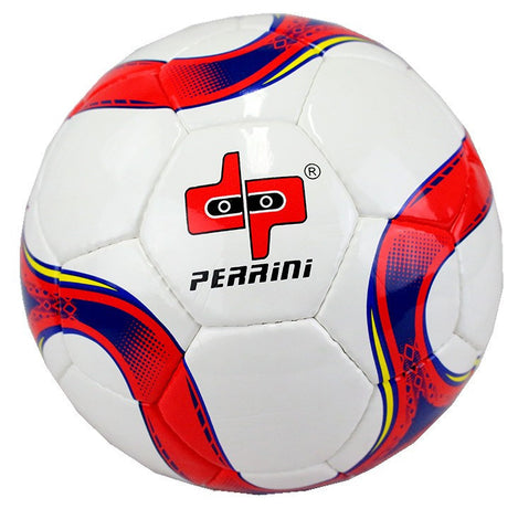 Perrini Official Size 5 Soccer Ball Red and Blue