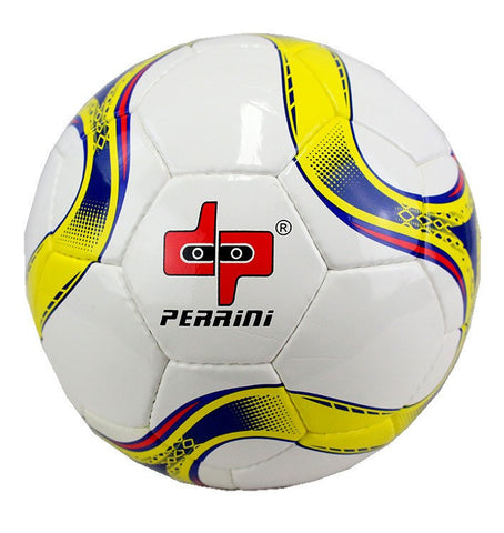 Perrini Official Size 5 Soccer Ball Yellow and Blue