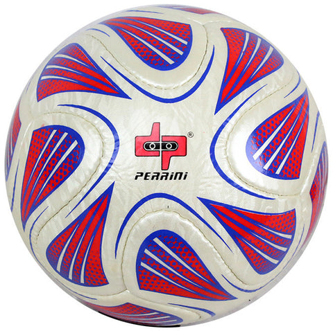 Perrini White/Red/Blue Brazuca Soccer Ball Size 5